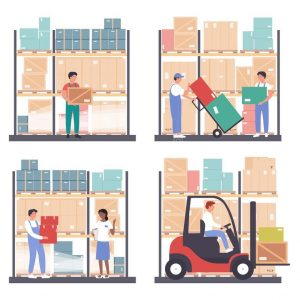 warehouse-logistics-vector-illustration-set-cartoon-flat-worker-people-work-wholesale-stockroom-storehouse-isolated-carry-191310686